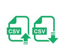 CSVアップロード・ダウンロード機能
